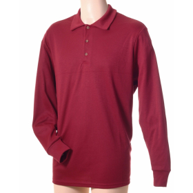 Polo homme uni manches longues